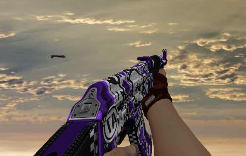 Модель АК47 Фиолетовое разрушение