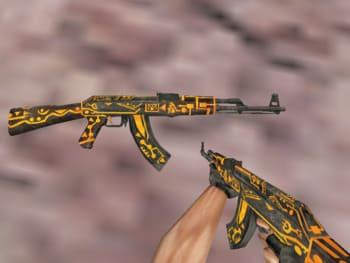 Модель АК47 без анимации Золотая страна