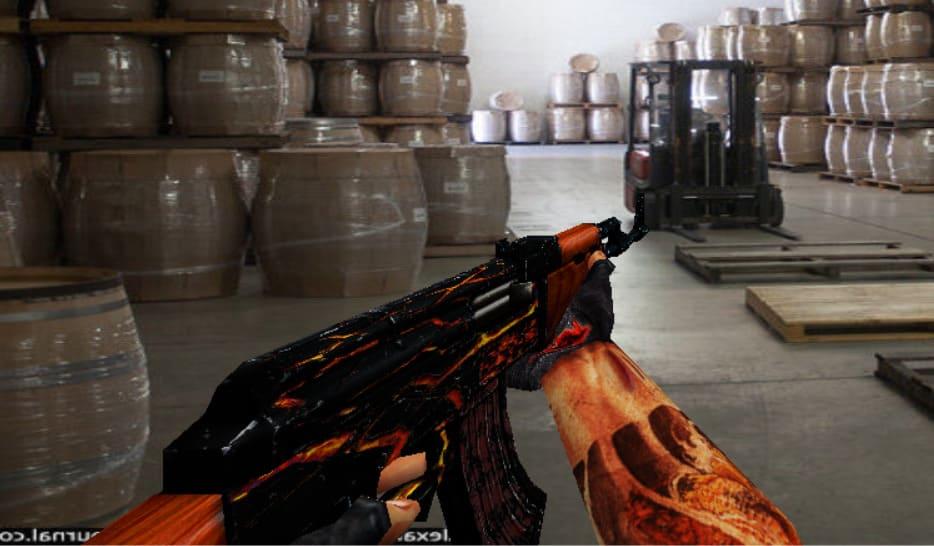 Модель АК47 без анимации Огонь