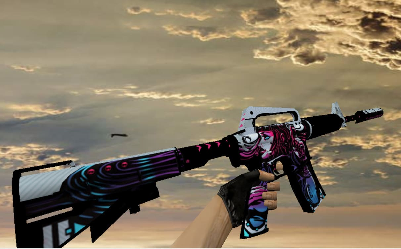 Модель M4A1 с анимацией Неона