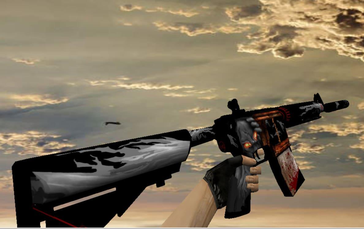 Модель M4A1 с анимацией Палача