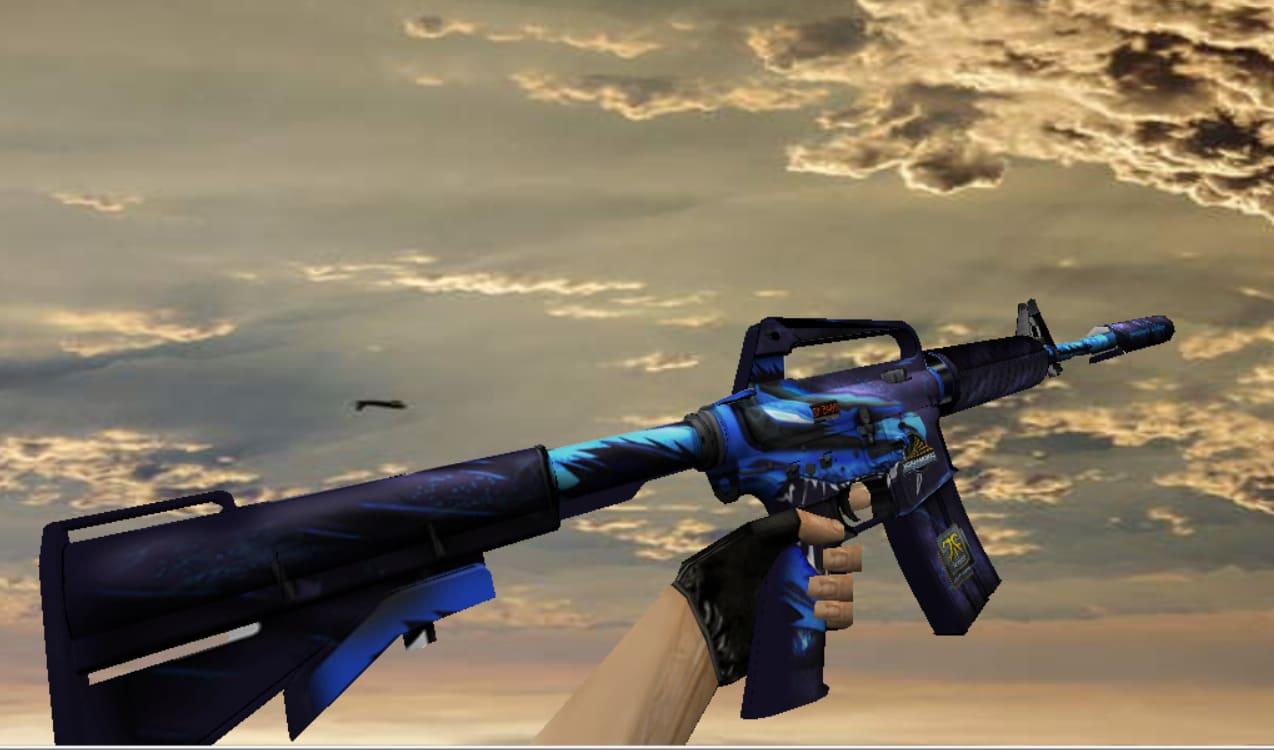 Модель M4A1 с анимацией Синего дракона